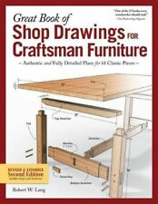 Great Book of Shop Drawings for Craftsman Furniture by Lang Paperback Book Free