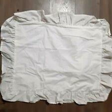 White ruffled new standard pillow sham cottage farmhouse