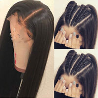 Pre Plucked Straight Silk Top Full Lace Wigs Malaysian Remy Human Hair Wig Black
