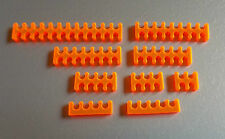 10pc LAVA ORANGE open cable comb set for 2mm, 3mm or 4mm sleeved - choose any 10