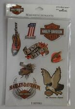 Harley Davidson Magnets/Aimants - 1 Sheet of 8 magnets New