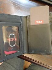 NEW BLACK TUMI MULTI WINDOW CARD CASE AND ID WALLET WITH FREE SHIPPING
