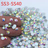 144/288/1440pcs Crystal AB Glass Non Hotfix FlatBack Rhinestones Nail Art  DIY