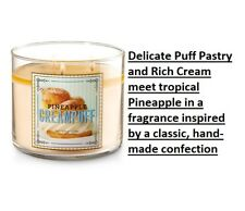 NEW BATH & BODY WORKS PINEAPPLE CREAM PUFF SCENTED CANDLE 3 WICK CHEAP SHIPPING