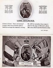 12 Field Marshal Earl Lord Kitchener old pcs ( one used )