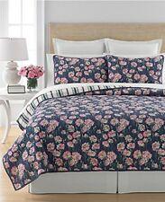 Martha Stewart Carnation Field Twin Reversible Quilt Quilt+1 Standard Sham