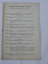 Quatuor Coronati Lodge Library Additions from 1st Oct 1908 to 1st April 1909