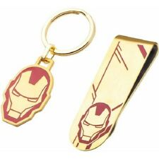 Marvel Iron Man Men's Stainless Steel Money Clip and Key Chain Set