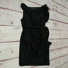 Marc Marc Jacobs Womens Black Polka Dot Sleeveless Ruffle Dress Size 0 AboveKnee