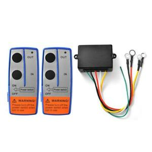 Car Truck ATV Universal 100ft 12V Wireless Winch Remote Control Switch Handset