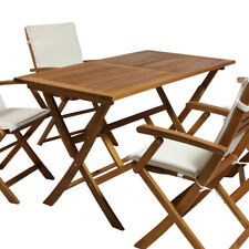 Gartentisch Tisch Klapptisch Esstisch Holztisch Akazie Massivholz geölt 120x70