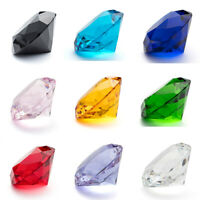 Colors Crystal Diamond Shape Paperweight Gem Display Glass Ornament 50MM Gifts
