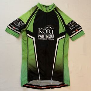 Jakroo Mens Slim Cut Fit Style Green Cycling Jersey Size Small Full Zip EUC 🔥