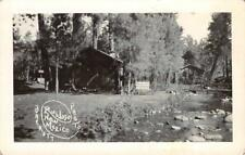 RPPC RUIDOSO, NM New Mexico Cabins ca 1930s Vintage Barrett Photo Postcard