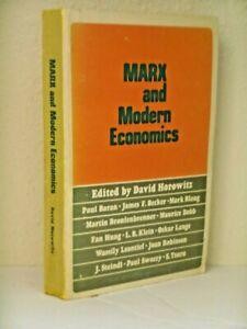 Marx and Modern Economics edited by David Horoowitz, Political Science