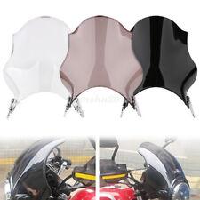 Universal Motorcycle Round Glass Windshield For Honda Yamaha Kawasaki Suzuki