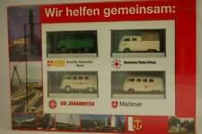 """Brekina 108 VW T1 4er Set """"Wir helfen gemeinsam"""" Ludwigshafen 1:87 NEU & OVP"""
