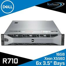 "Dell PowerEdge R710 Server Xeon Quad Core X5560 2.80GHz 16GB Ram 6x 3.5"" Bays"