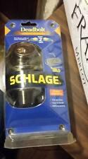 NIP Schlage Deadbolt Keyed 2 Sides Lock Set ~ Bright Brass ~ Model # P513-563
