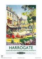 HARROGATE RAILWAY POSTER YORKSHIRE VINTAGE TRAVEL HOLIDAY ADVERTISING RETRO