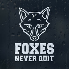 LCFC 2016 Champions Foxes Never Quit Car Wall Decal Vinyl Sticker