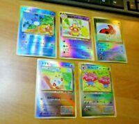 LOT POKEMON POCKET JAPANESE 5 CARDS GAME HOLO 5 CARTES REVERSE FOIL JAPAN #001