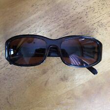 PRADA SPR 03E 2AU-3N1 Ladies Sunglasses Dark Faux Tortoise Frame Amber Lenses