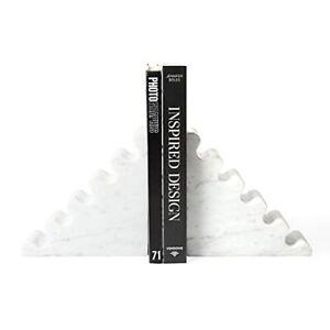 Jonathan Adler - White Carrera Marble Bookend Set - Ripple