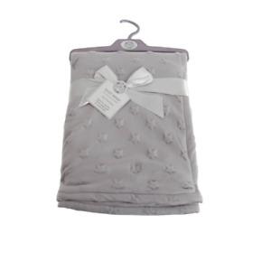 Brand new in pack Snuggle Baby wrap/blanket in grey star embossed 75 x 100 cm