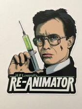 "RE-ANIMATOR 4"" x 3"" Full Color Die-Cut Vinyl Decal HORROR HP LOVECRAFT"