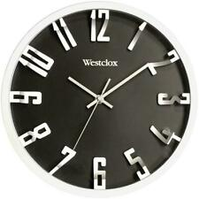 Westclox 32913 12 in. Round 3D Number Wall Clock