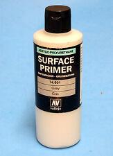 Vallejo SURFACE PRIMER 74.601 GREY 200ml / 6.76oz  Acrylic SUPER SIZE BOTTLE