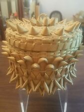 antique Cherokee Nation basket signed by artists Sarah T. Curtis MI.
