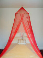 Rojo Decorativo Mosquito Fly Canopy Red Cama Malla Para Individual Doble King Size