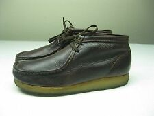 CLARK'S ORIGINAL WALLABEE Brown Leather CHUKKA BOOTS Size 9.5  D