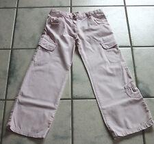 * Young Fashion * schöne rosa Hose für Mädchen Gr. 128 Jeans Sommerhose