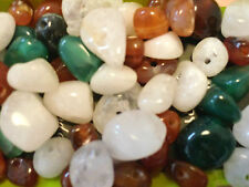100pcs x Natural Stone Beads In Assorted Colours & Sizes For Jewellery Making