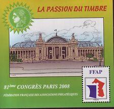 TIMBRE BLOC FFAP N°2  81 eme CONGRES  PARIS  2008