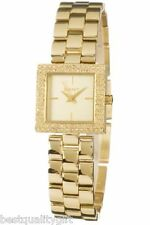 NEW DKNY GOLD TONE STAINLESS STEEL WITH CRYSTALS FANCY LADY'S WATCH-NY4882
