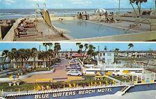 Daytona Beach Florida 1977 Postcard Blue Waters Beach Motel