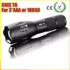 High Power CREE XML-T6 5 Modes 3800 Lumens LED Flashlight Waterproof Zoomable