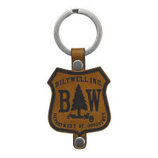 BILTWELL GOOD TIMES KEYRING IN BROWN (KF-GOOD-LTH) **BRAND NEW**
