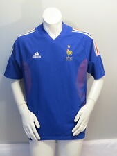 Team France Soccer Jersey - 2002 Home Jersey by Adidas - Men's Large