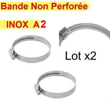 Collier de Serrage Vis inox A2 Taille 140x160mm ( Lot de 2 ) Bande 12mm