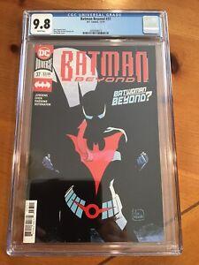 Batman Beyond # 37 DC Comics 2019  CGC 9.8  full App Of Batwoman Beyond