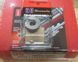 Hornady 9mm  Titanium Nitride 3 Die Set TAPER CRIMP 546516 w/ FREE SHELL HOLDER