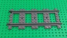 *New* Lego Dark Grey Train Track 8x16 Stud Straight for Trains Spares x 1 piece