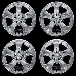 "4 New 2011-2014 Ford Edge SEL SE 18"" Chrome Wheel Skins Hub Caps Full Rim Covers"