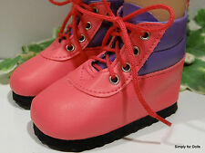 """**SALE** MY TWINN Hot Pink/Purple HIKING BOOTS DOLL SHOES fits 23"""" Poseable Doll"""