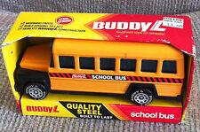 VINTAGE BUDDY L SCHOOL BUS IN ORIGINAL BOX # 502J 1983 STEEL CONSTRUCTION